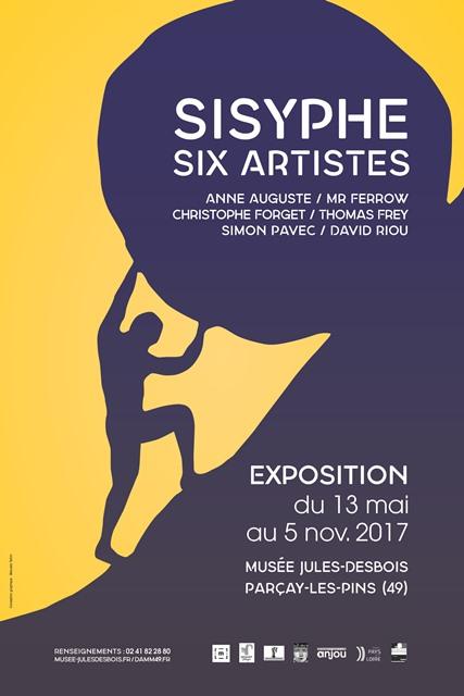 FMA49-exposition-musée-Jules-Desbois-affiche-Sisyphe-baugé-en-anjou