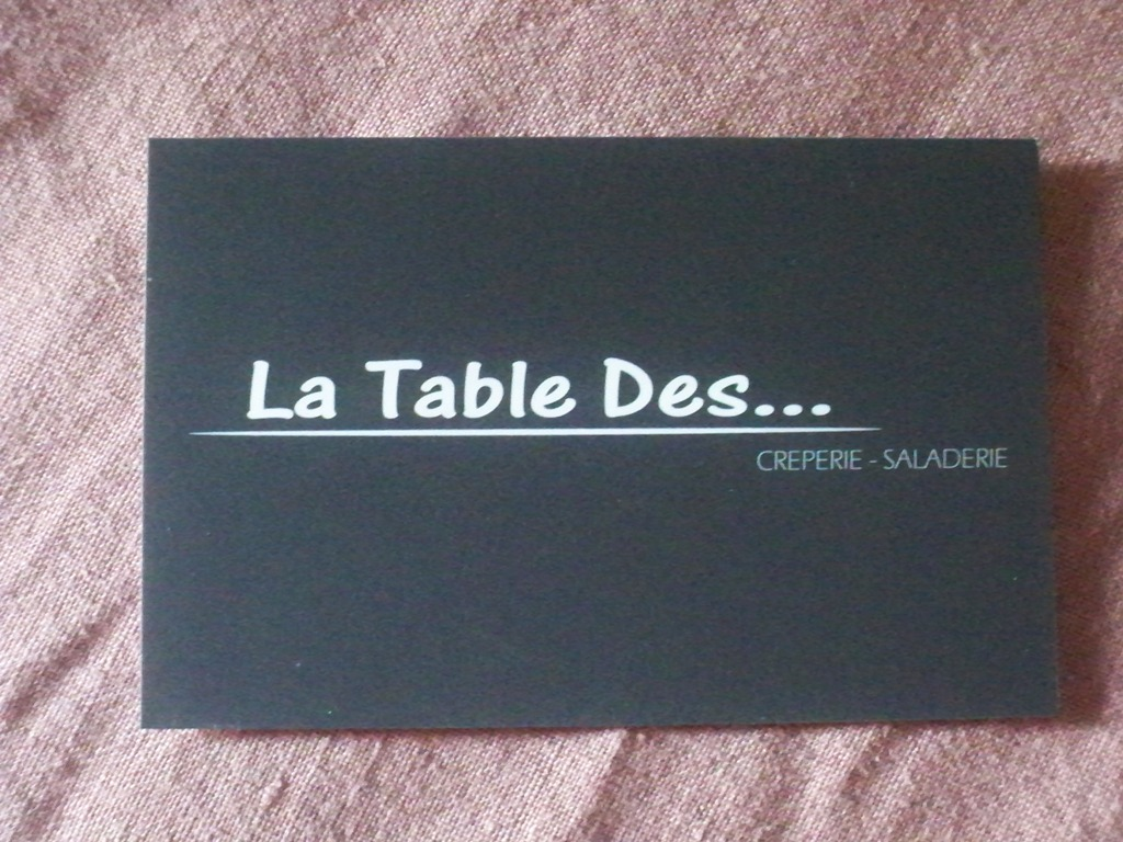 RESTAURANT LA TABLE DES...